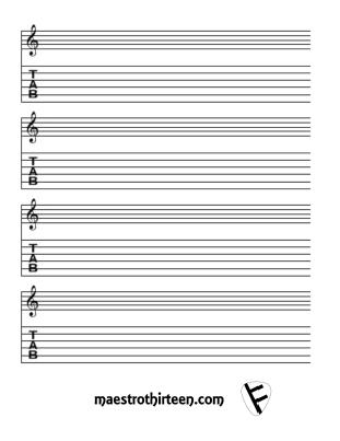 Guitar guitar tablature sheets : Guitar : guitar tablature paper template Guitar Tablature Paper or ...